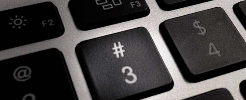 tecla de hashtag en teclado mac